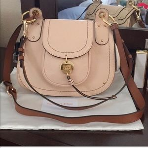See by Chloe Leather Flap Shoulder Bag, Nude